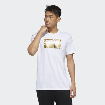 南◇2020 5月 Adidas ORIGINALS  短T 白 男款 金色LOGO FM6259 休閒短T