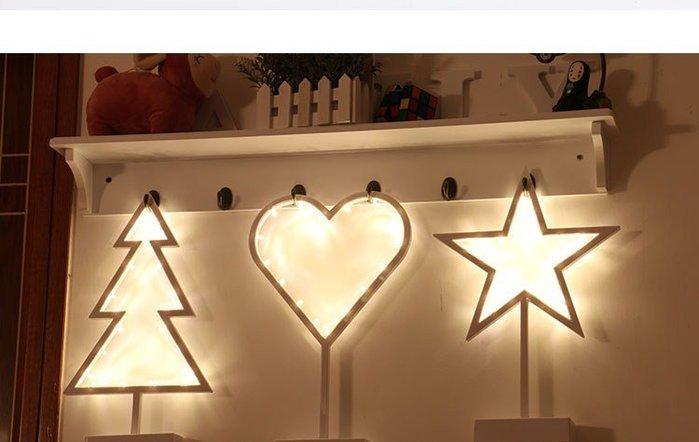 ☆║♥愷心小舖♥║☆聖誕 星星 愛心 療育小夜燈