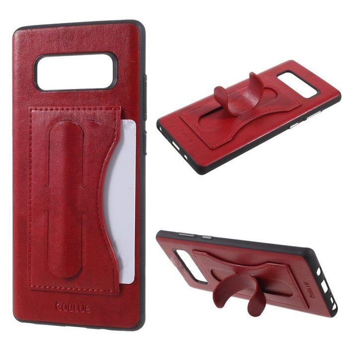 『四號出口』 現貨 COBLUE 酷藍 【 三星 SAMSUNG S10+ 】 皮革 支架 插卡 手機殼 保護殼 全包覆