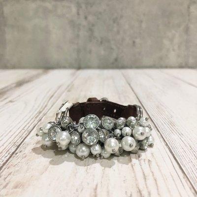 Maple麋鹿小舖 Abercrombie&Fitch * AF 水鑽珍珠皮質手鍊 * ( 現貨 )