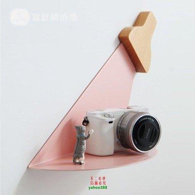 【美學】壁掛墻壁馬卡龍簡約鐵藝光影壁掛置物架MX_502