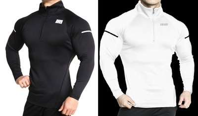 L02019 【肌肉武裝】MUSCLE ARMED半拉鍊 立領 長袖 衛衣 高彈 舒適 輕柔 3D剪栽 焦點服飾