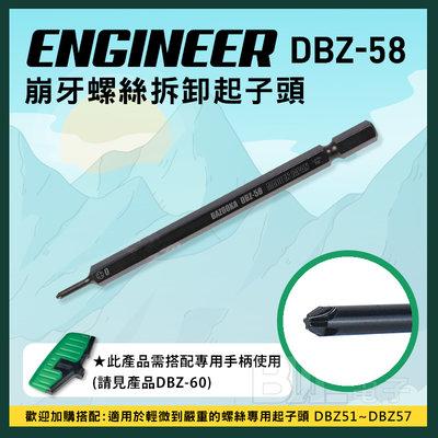 [百威電子] 含稅附發票 日本 ENGINEER DBZ-58 #0 十字 崩牙 起子頭 M1.4~M2.6