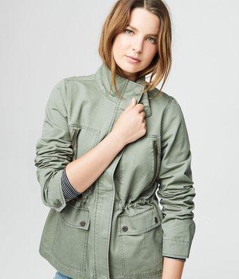 美國Aeropostale女裝Lightweight Cinched-Waist Parka S號淺橄欖綠春季外套含運