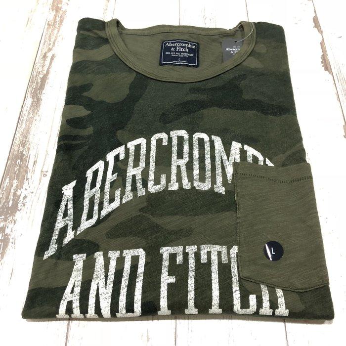 Maple麋鹿小舖 Abercrombie&Fitch *AF 迷彩印花字母口袋短T * ( 現貨L號 )