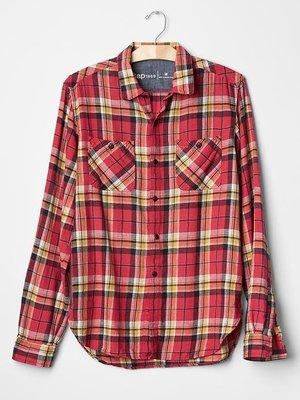【天普小棧】GAP 1969 Icon worker plaid standard fit shirt格紋襯衫M/L號