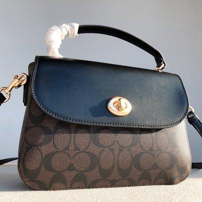 【八妹精品】COACH C1765 新Malie旋轉郵差包 女士單肩斜跨提手包 內置拉鏈袋  側背包  女包