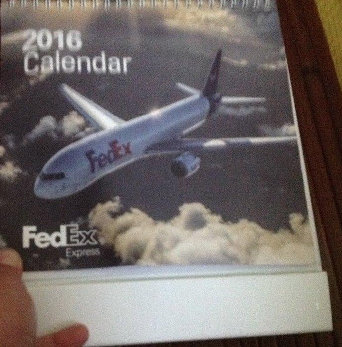 全新FEDEX2016年桌曆