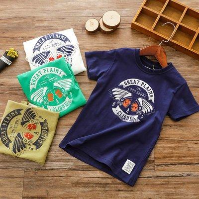 【Mr. Soar】 H245 夏季新款 歐美style童裝男童短袖T恤上衣 中大童 現貨