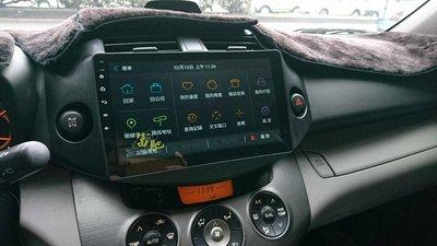 中壢富馳汽車音響TOYOTA RAV4汽車音響改裝JHY R3 RAV4 專用10.1吋安卓導航影音主機