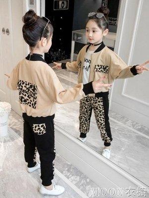 女童春裝2020新款時髦套裝兒童韓版洋氣運動兩件套10中大童12歲潮