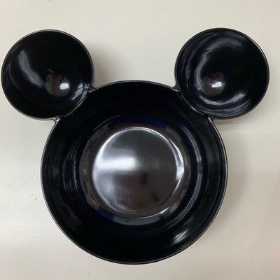 米奇大頭 兒童分隔碗 環保學習餐具 水果分隔盤 黑色 容量大