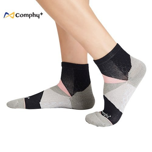 【線上體育】COMPHY+ 阿瘦集團 幾何短襪-灰色 L