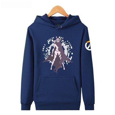 【SeVeN Shop】精選代購Overwatch鬥陣特攻♥黑影SOMBRA#6♥連帽T♥加厚高磅刷絨毛鋪棉♥大尺碼衛衣