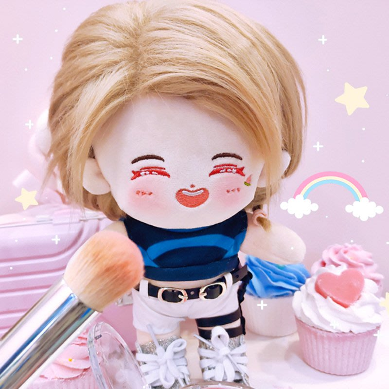 木子李明星周邊blackpink Jennie周邊玩偶金智妮同款娃娃衣妮騎應援明星換裝公仔