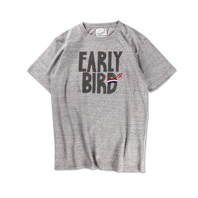 Freaky House-日本Riding High Jersey P&E線繡Early Bird短T棕色日本製