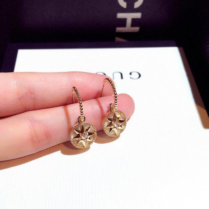 花姑子的賣場適合圓臉的耳環女網紅同款個性純銀圓圈2020年新款潮夏季耳墜耳飾