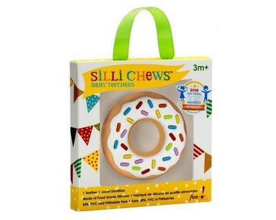 【魔法世界】美國 Silli Chews 香草甜甜圈咬牙器/固齒器 SC-6