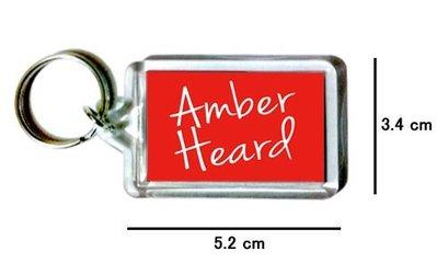 〈可來圖訂做-鑰匙圈〉Amber Heard 安柏赫德 壓克力雙面鑰匙圈 (可當吊飾)