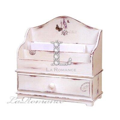 【Creative Home】Cottage Chic 法式田園系列白色仿古信箋盒 / 信箱 / 置物盒