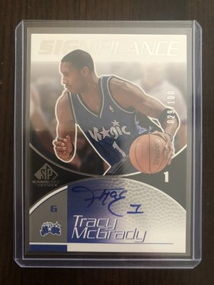 2002-03 UD SP Significance Tracy McGrady 簽名 限量100