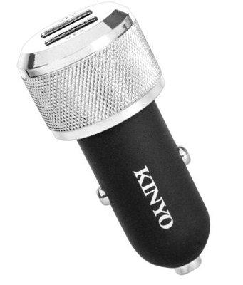 KINYO 耐嘉 金屬雙孔USB車用充電器 CU-55