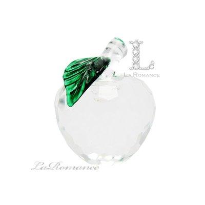【芮洛蔓 La Romance】璀璨水晶 – 2.5 cm 水晶蘋果 (透明) / 擺飾 / 禮品