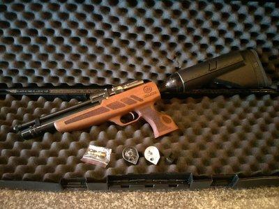!《終極警探》0-AIR空氣槍-卡洛-KRAL-ARMS-PCP-跳蚤-5.5mm-轉盤+雙氣室+送原廠槍箱