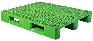 塑膠棧板120*100*16cm-川字型塑膠棧板,單面式網面4向插冷凍倉儲用/可回收/全新品【富晴塑膠】