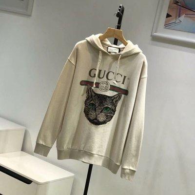 Gucci 貓咪系列亮片帽T