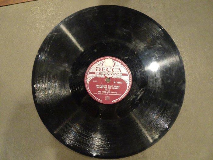 【卡卡頌 歐洲跳蚤市場/歐洲古董】DECCA_ THE FOUR ACES 十吋 78轉 西洋 黑膠唱片