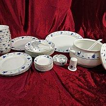 全新 蝴蝶蘭青花玲瓏釉餐具  釉中彩 共56件景德鎮陶瓷  Jingdezhen porcelain 聖誕及新年特惠產品