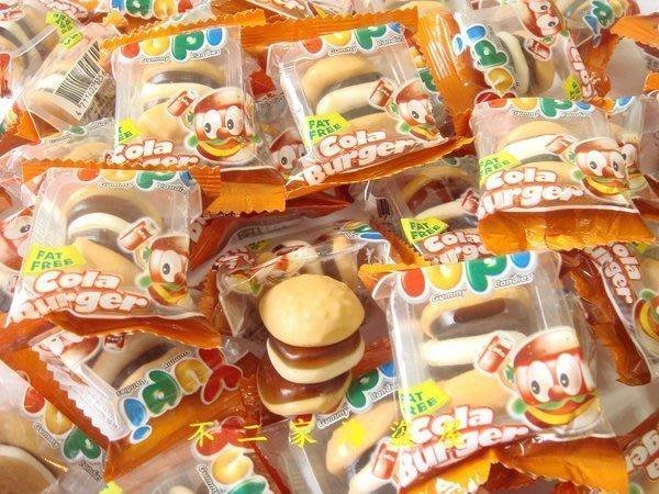 【不二家海盜屋】*超取滿799元免運費-漢堡造型QQ軟糖--可樂口味--240g90元--另有漢堡酸Q糖果區