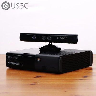 【US3C-板橋店】公司貨 微軟 Microsoft XBOX 360 E + Kinect 電玩主機 黑色 雙手把 二手電玩主機 電視遊樂器 二手主機