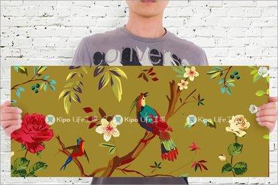KIPO-無框畫 橫式 帆布畫 中國風花鳥 插畫花鳥圖 NCK013102A