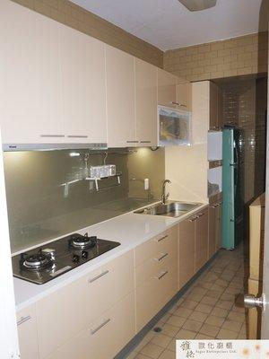 雅格廚櫃】工廠直營~一字型廚櫃、流理台、廚具、結晶鋼烤、林內三機、DS-850T水槽
