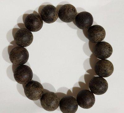 越南高級土沉 沉香木手串珠12mm15顆 不入水 濃郁香味系列