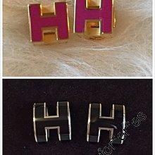 全新 Hermes lindy picotin Cage d H Cube Pop H earrings  方 橢圓 搪瓷耳環