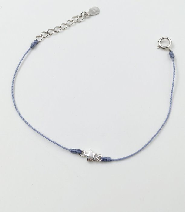 [Le Bonheur Line] 幸福線 手工/超小 925銀 雙環星星/紅線手鍊 韓版 招桃花 飾品 可愛 迷你