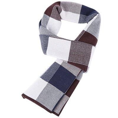 圍巾 針織披肩-格子休閒加厚羊毛男配件4色73wi6[獨家進口][米蘭精品]