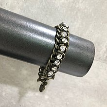 Maple麋鹿小舖 Abercrombie&Fitch * AF 古銅色水鑽鍊條設計手鍊 * ( 現貨 )