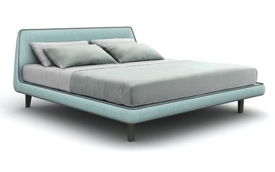 [米蘭諾家具]複刻近原裝Bonaldo Joe bed 皮或布料雙人床 台灣製造/現代北歐設計款式
