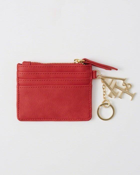 Maple麋鹿小舖 Abercrombie&Fitch * AF 女生紅色LOGO字母零錢包 *( 現貨 )