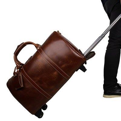手提 包 真皮旅行袋-21吋牛皮拉桿復古男包包4色73ur20[獨家進口][米蘭精品]