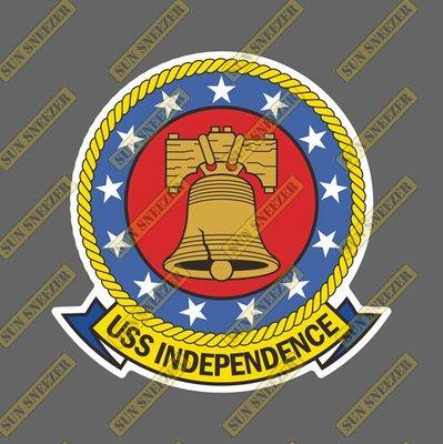 USS 美國海軍 獨立號航空母艦 CV-62 圓形徽章 尺寸88MM