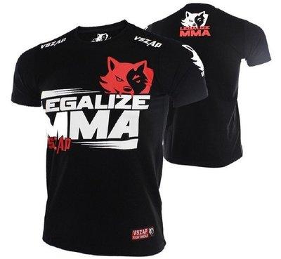 ㊣-緊衣衛-㊣VSZAP Legalize短袖MMA搏擊泰拳T恤UFC綜合格鬥訓練健身運動散打