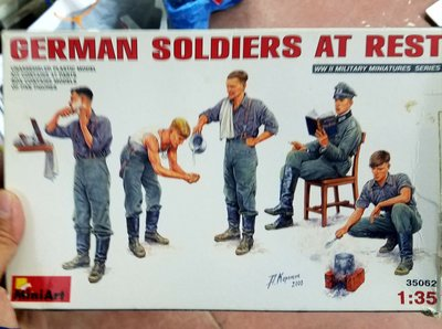 全新 -MiniArt- 35064- 1/35 -German Soldiers at Rest-WW2-加拍賣費3元-M-150
