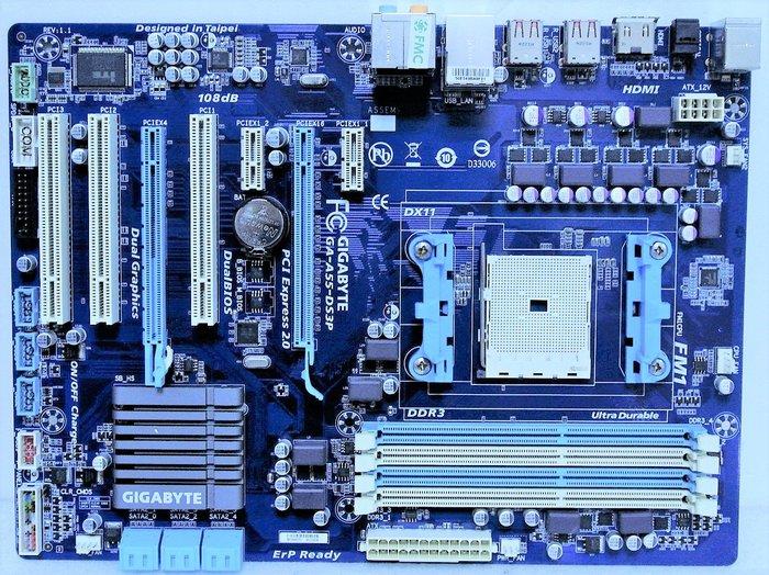 ~ 駿朋電腦 ~ 技嘉 GA-A55-DS3P FM1主機板 PCI-E DDR3 $700