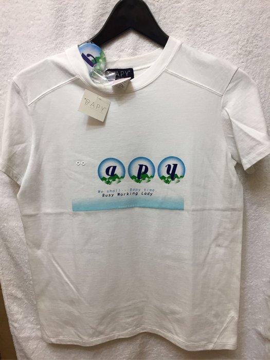 [變身館日本服飾] ~A BATHING APE~BAPE~BAPY~短袖T恤~胸章~女裝~日本限定~全新現品~日本製