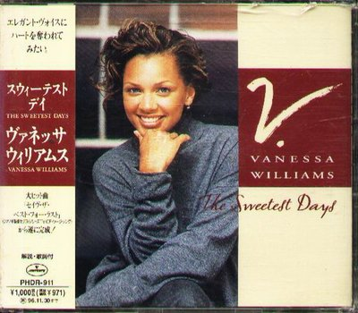 K - Vanessa Williams - The Sweetest Days - 日版 - NEW